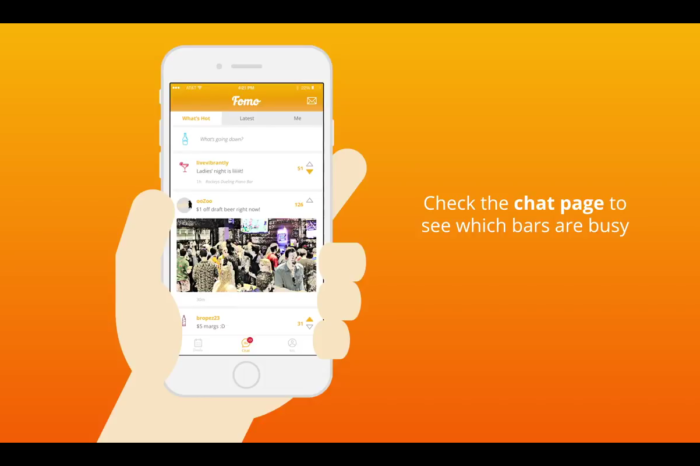 Drinks with Fomo, the App that's our Newest Bar Buddy